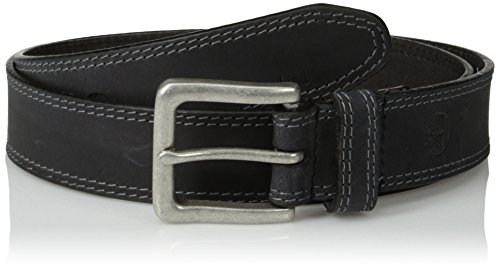 Timberland Men's 35Mm Boot Leather Belt, Black, 42 by Timberland