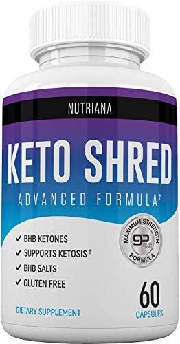 Keto Ultra Shred Diet Pills - Keto Advanced Weight Loss Fat Burners for Women and Men | Keto BHB Salts to Burn Fat Fast on Keto Diet | Ketogenic Keto Slim Supplement |Exogenous Ketones - 60 Count 1