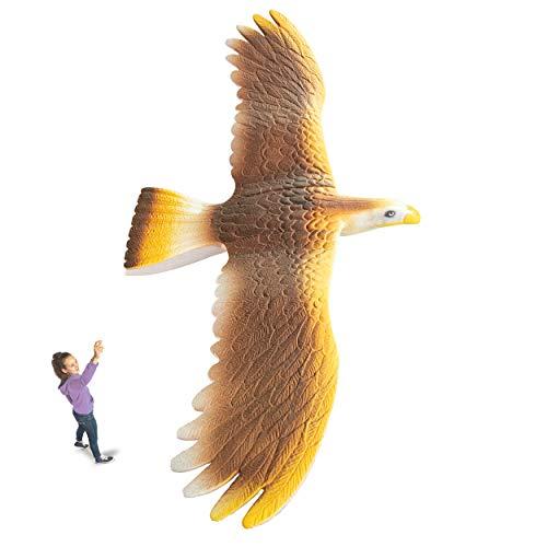 (Geospace GEOGLIDE Soaring Hawk Glider kit with 33 inch Wingspan, Gold)