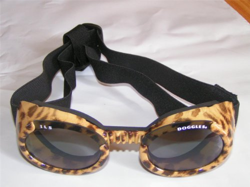 Doggles ILS Large Leopard and Smoke Lens Eyewear for Dogs, My Pet Supplies