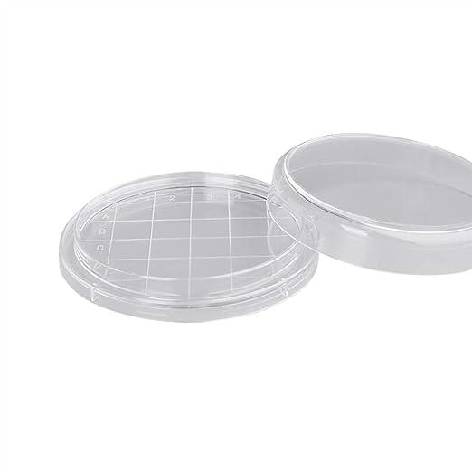 Tansoole 10er Pack Einweg-Petrischalen aus sterilisiertem Kunststoff /φ3cm f/ür Laborexperimente Biologie Mikrobiologie Studien