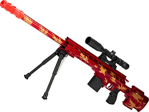 Evike Red Dragon Spring Powered Airsoft Sniper Rifle with Mock Scope and Bipod (Dragon Airsoft Gun)