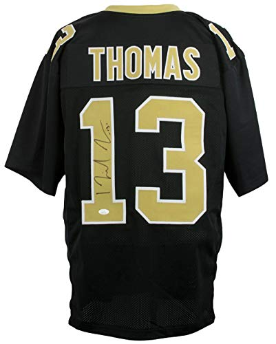 Michael Thomas Full Signature Signed Custom Black Pro Style Football Jersey ()