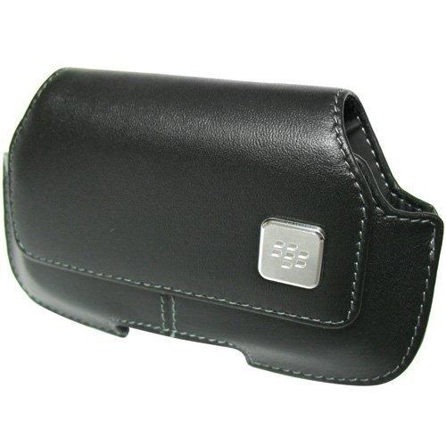 Blackberry Sensor Holster Proximity - BlackBerry Black Horizontal Side Pouch Case with Swivel Holster for Torch 9800