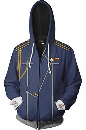 (BeautifulTimes Fullmetal Alchemist Hoodie Roy Mustang Costume Jacket Sweatshirt Cosplay Top)