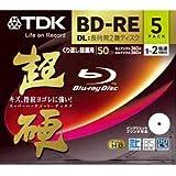 TDK 2倍速対応BD-RE DL 5枚パック 50GB ホワイトプリンタブル超硬 BEV50HCPWA5A