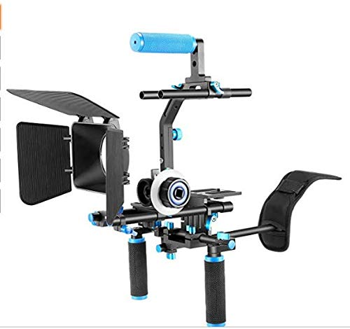 Neewer Professional DSLR Rig Set Movie Kit Film Making System for All DSLR Cameras and Video Camcorders,Include:Shoulder Mount+Follow Focus+Matte Box+C-shaped Bracket and Top Handle (Best Cheap Camcorder For Filmmaking)