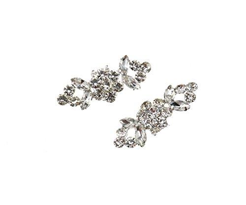 Pour Chaussures Boucle De 2 Emma Clips nbsp;x Mariage Décoration Charm Strass Cristal WwT1C78xq4