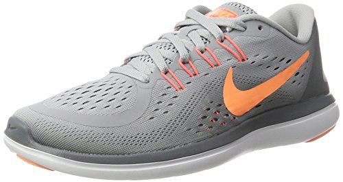 Nike Women's Free Rn Sense Running Fitness Shoes, Black Multicolor (Wolf Grey/Sunset Glow-cool Grey)