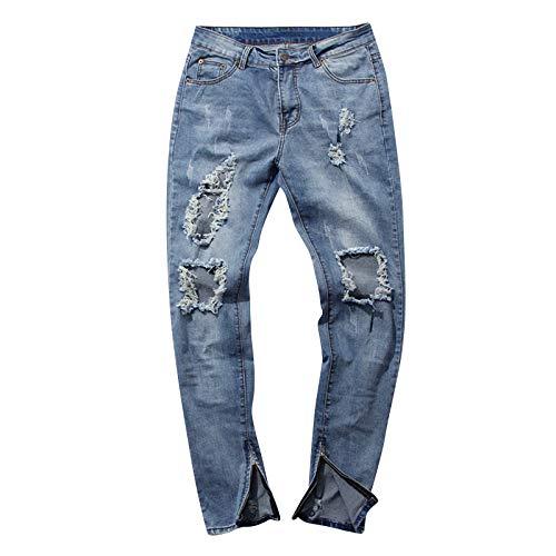 la Marea WFL Marca lápiz de claro Estiramiento Pantalones Azul de Vaqueros los Hombres los Delgados de la de Pantalones wrYXYSx