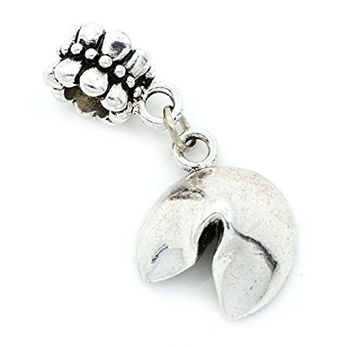 Pro Jewelry Dangling Fourtune Cookie Charm Bead Compatible with European Snake Chain Bracelets - Number 13 Pandora Charm