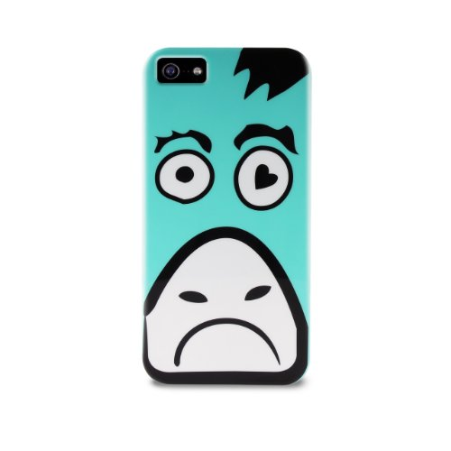 Puro IPC5COW TPU Cover Crazy Zoo Cow für Apple iPhone 5 hell blau/weiß