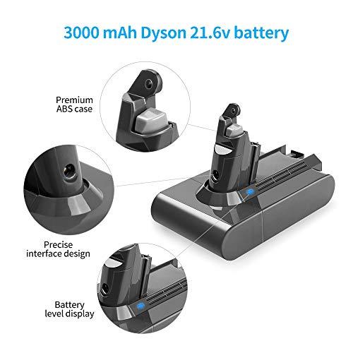 Flylinktech 3000mAh Dyson V6 21 6v Li-ion Replacement Battery for