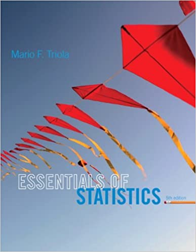 Essentials of Statistics (5th Edition)by Mario F. Triola (Author)