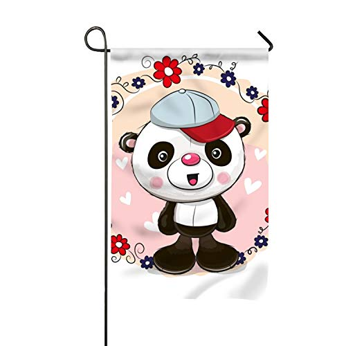 Lucy Curme Welcome Greeting Cardpanda Garden Flag - Vertical