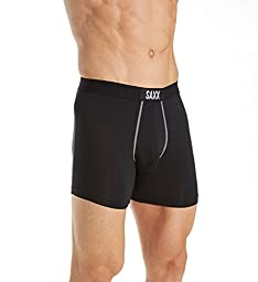 Saxx Men\'s Vibe Modern Fit Boxer, Black, X-large