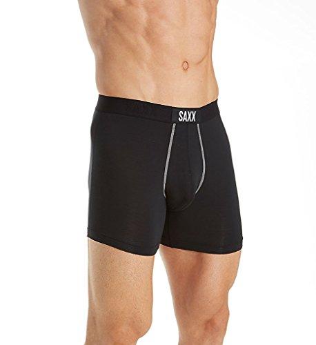 Saxx Underwear Co Men's Vibe Boxer Modern Fit, Black, - Co Uk Shopping Online