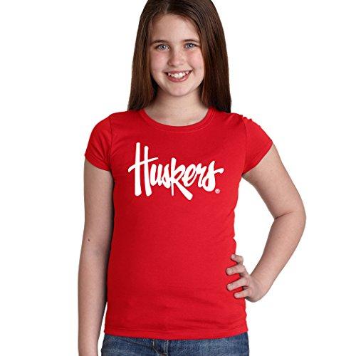 """Nebraska Cornhuskers Legacy Script""""Huskers"""" Youth Girls Tee"""