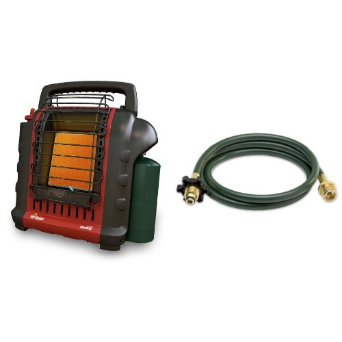 Mr. Heater F232000 MH9BX Buddy 4,000-9,000-BTU Indoor-Safe Portable Radiant Heater and Mr. Heater Buddy Series Hose Assembly - 10-ft, Model# F273704 Bundle