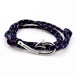 Joyhul Nautical Anchor Sailor Anchor Bracelets Men fiendship Gifts,Goldgray