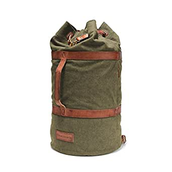 DRAKENSBERG Kimberley Duffel Bag, sea bag, canvas, buffalo leather, olive green