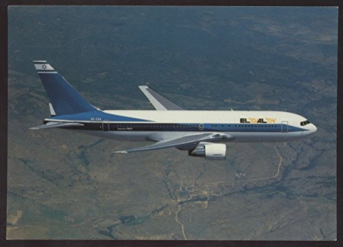 EL AL Israel Airlines Boeing 767 Airplane Passenger Jet Continental Postcard