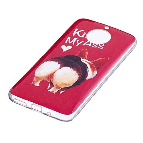 Funda para Motorola Moto G5S, Ecoway IMD Concha blanda Case Antideslizante Suave Parachoques Resistente a los arañazos Contraportada Funda de silicona Parachoques Carcasa Funda Bumper - 3 7
