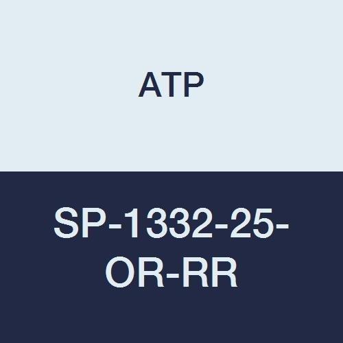 ATP Strong-Plus Polyurethane Spiral Hose, Orange, 13/32'' ID x 5/8'' OD, 25 feet Length/20 feet Working Length, 1/2'' NPT Male