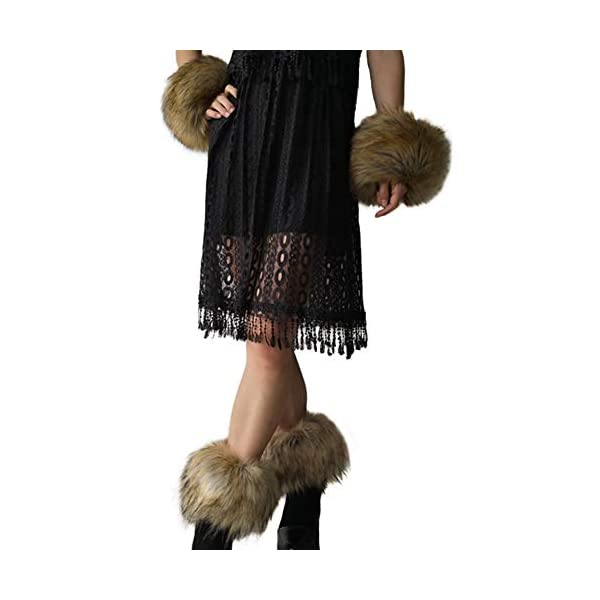Furry Wrist Cuffs Leg Warmers