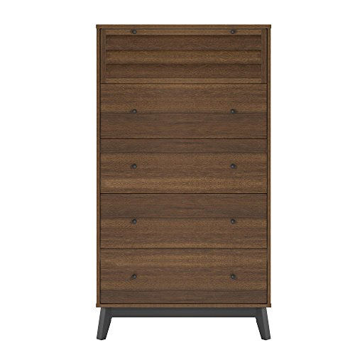 Ameriwood Home 5994096COM Vaughn 5 Drawer Dresser Walnut ()