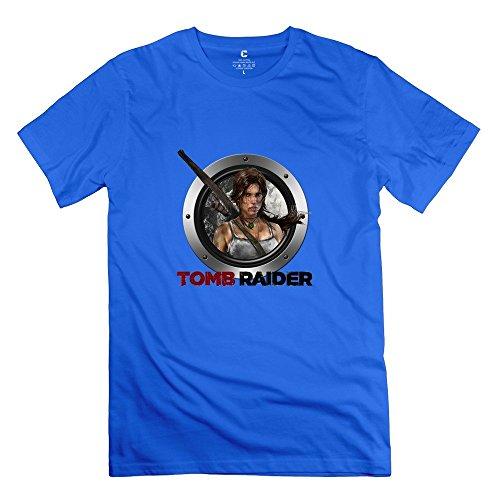 tomb-raider-very-100-cotton-royalblue-tshirt-for-mens-size-xl
