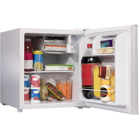 Galanz 1.7 cu ft Single Door White Mini Refrigerator Perfect for Dorm Room GL17WE