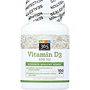 Gut Health Shop 41CbxJO8xrL._SS300_ 365 Everyday Value, Vitamin D3 400 IU, 100 ct