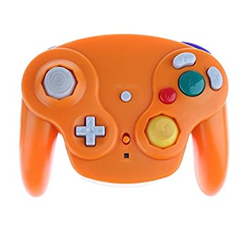 Wireless 2.4ghz Controller Gamepad For Nintendo Gamecube & Nintendo Wii (Spice Orange) 3