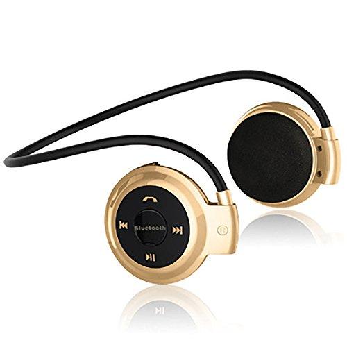 OUYAWEI audífonos inalámbricos con Bluetooth, Radio FM, Deporte, música, estéreo, Auriculares, Ranura para Tarjeta Micro...