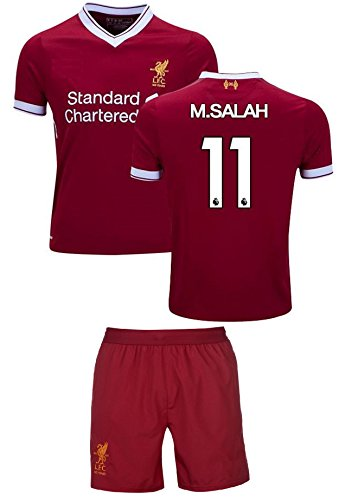 10 Liverpool Away Jersey - Liverpool Mohamed Salah #11 Soccer Jersey & Shorts Kids Youth Sizes Football World Cup Premium Gift (YL 10-13 Years, Salah #11)