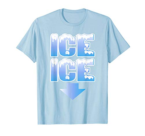 (Ice Ice Arrow Pregnancy and Baby Announcement Winter Shirt)