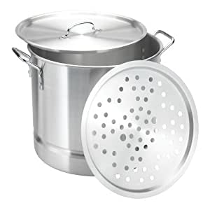 Vasconia 32-Quart Aluminum Steamer with Lid