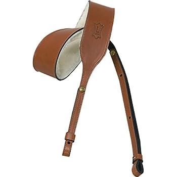 uk made celtic brown leather padded banjo strap musical instruments. Black Bedroom Furniture Sets. Home Design Ideas