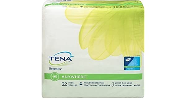 Amazon.com: Tena Serenity Anywhere Ultra Thin Long Pads 32 Pk (Pack of 4): Health & Personal Care