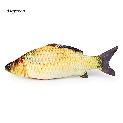Amazon.com : HBK Funny Grass Carp Pet Cat Kitten Catnip Fish Shape Interactive Cats Chewing Playing Toys 18/40cm/60cm Products for Cats katten @C : Pet ...