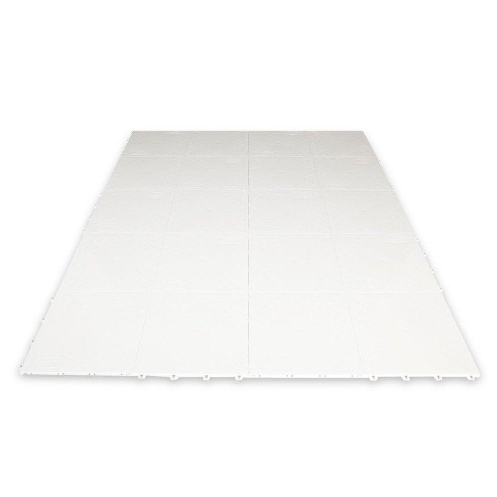 Slick Tiles Dryland Hockey Flooring 20 12'' By 12'' Tiles White