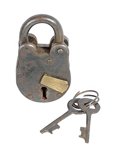 - Metal Brass Lock & Keys- 2.75 inches high x 1.5 Inches Wide