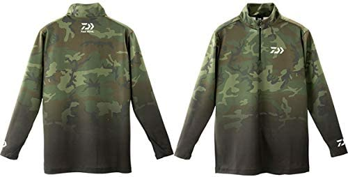 ダイワ(DAIWA) ブレスマジック®ハーフジップシャツ DE-33009 グリーンカモ XL