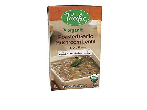 Garlic Soup Recipe - Pacific Foods Organic Roasted Garlic Mushroom Lentil Soup, 17 Ounce Cartons, 12-Pack