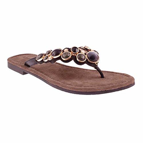 Black Women's 619 Lazamani Thong Black Sandals 33 ARnYFnwqZ