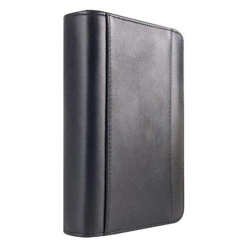 Pocket FC Basics Nappa Leather Zipper Binder - Black