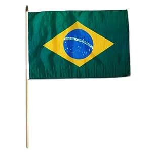 Bandera de Brasil 12x 18pulgadas Copa del Mundo Partidarios bandera
