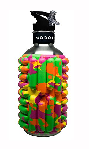 Mobot - JuicyBOT - 40 oz - Stainless Steel Foam Roller Water Bottle - The Travel Mobility Bottle by Mobot