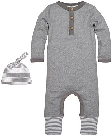 Burt's Bees Baby Baby Organic Convertible Foot Coverall and Hat